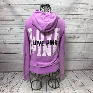 PINK Victoria's Secret Full Zip Purple Hoodie